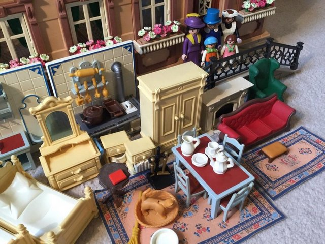 Image 2 of Playmobil Victorian House Fully Furnished & Figures Vintage