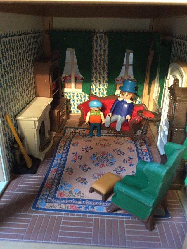 Image 4 of Playmobil Victorian House Fully Furnished & Figures Vintage