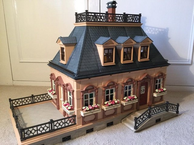 Image 7 of Playmobil Victorian House Fully Furnished & Figures Vintage