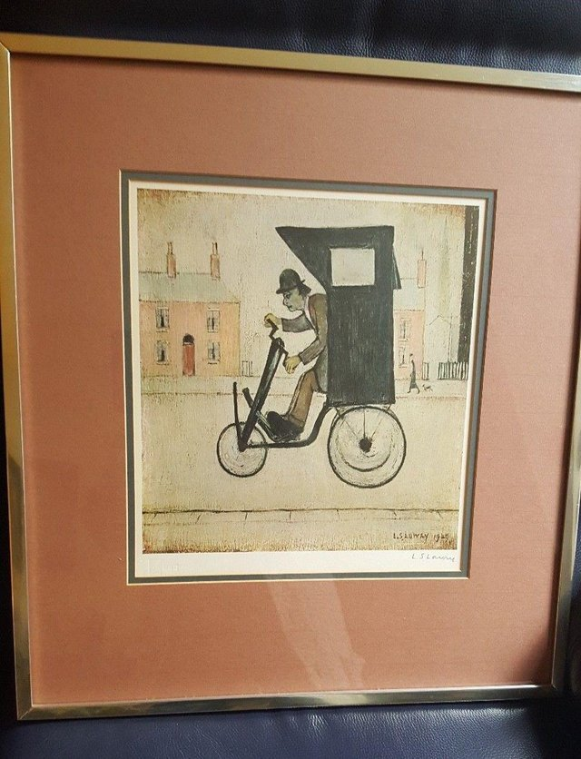 Preview of the first image of L S LOWRY SIGNED LIMITED EDITION PRINT 'THE CONTRAPTION'.