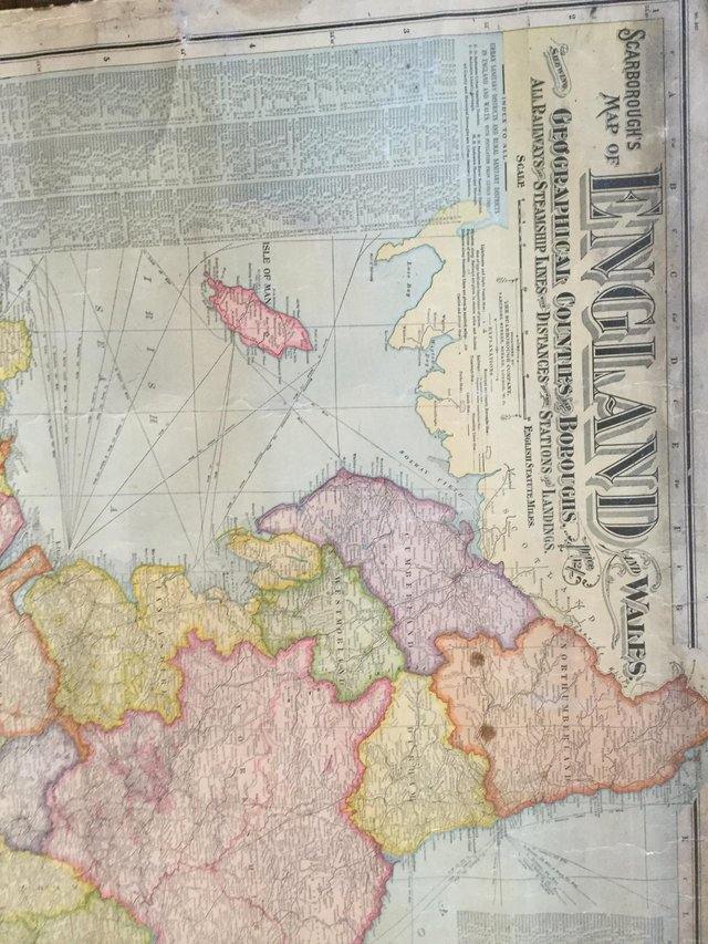 Map Of England Vintage.Vintage Map Of England And Wales For Sale In North Yorkshire