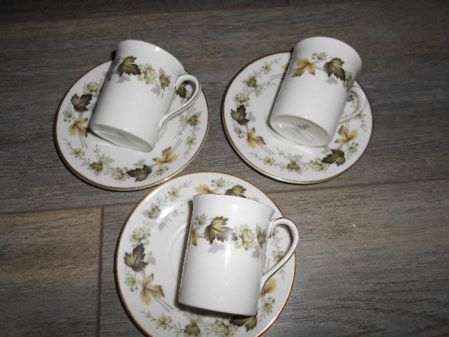 Image 3 of Royal Doulton Larchmont - Espresso Cups & Saucers x 3
