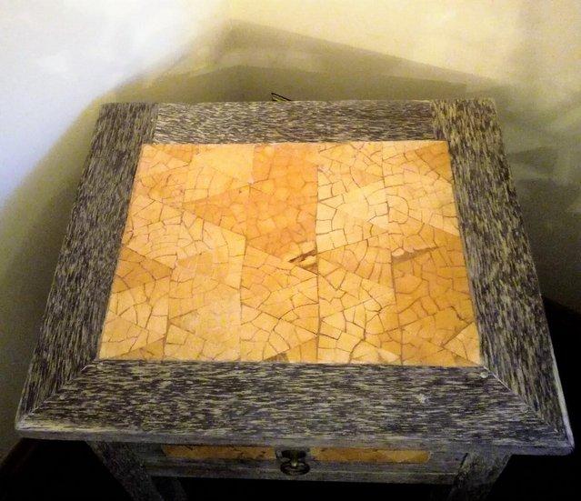 Image 2 of WOODEN CHEST DRAWS Black Fleck & Shell Mosaic BESPOKE DESIGN