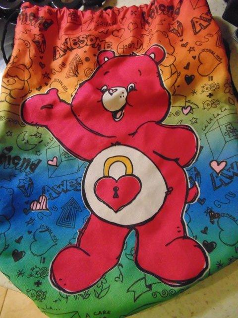 Preview of the first image of Lovely novelty Care bear hat bag  13'' x 16'' P+P £2.
