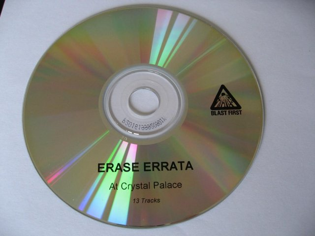 Preview of the first image of Erase Errata – At Crystal Palace – CD Album – Disc ONLY - Bl.