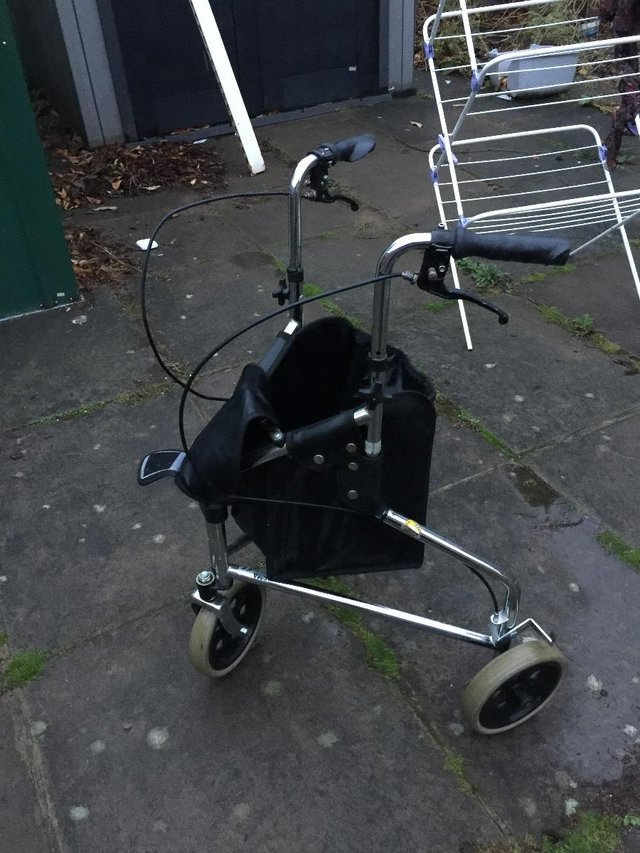 Preview of the first image of Days Tri Wheel Walker With Loop, Lockable Brake, Height Adju.