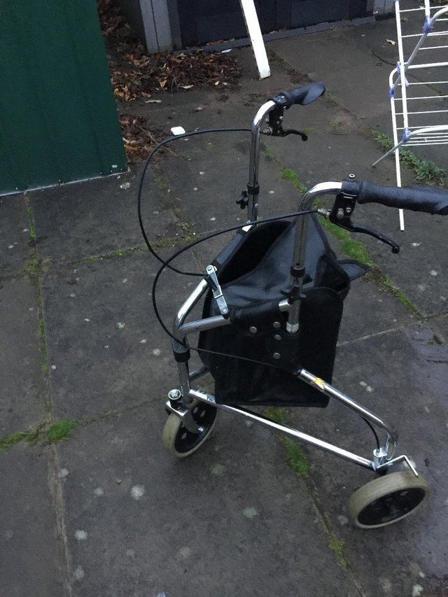 Image 2 of Days Tri Wheel Walker With Loop, Lockable Brake, Height Adju