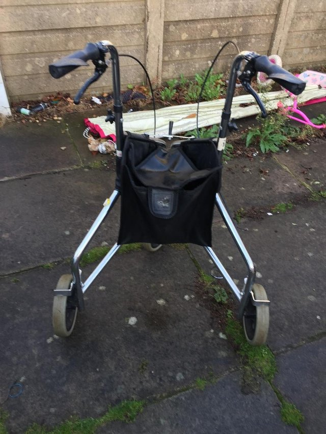 Image 4 of Days Tri Wheel Walker With Loop, Lockable Brake, Height Adju