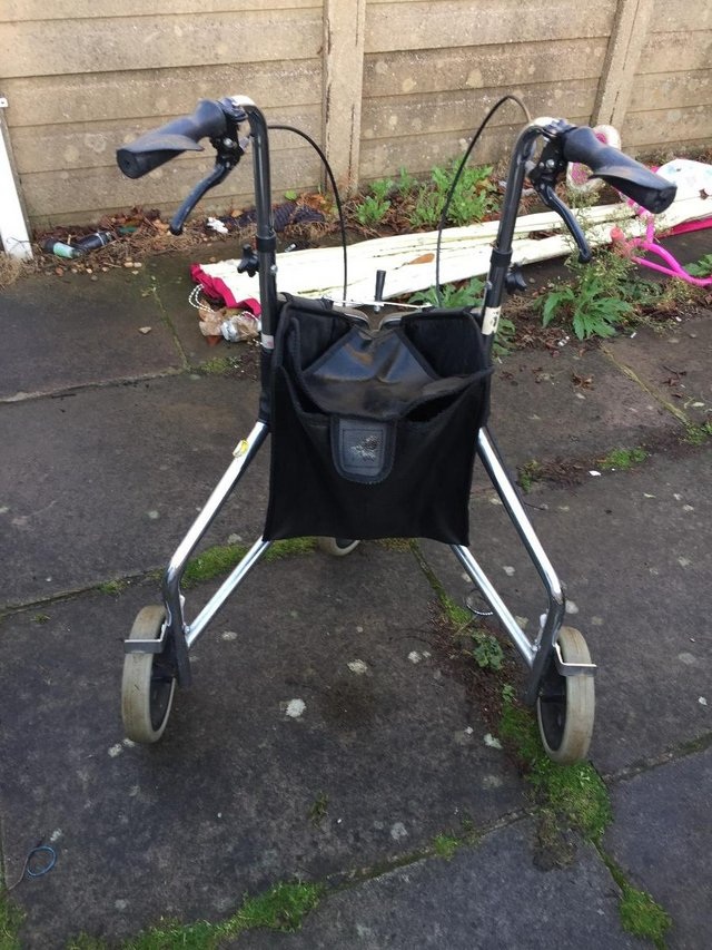 Image 6 of Days Tri Wheel Walker With Loop, Lockable Brake, Height Adju