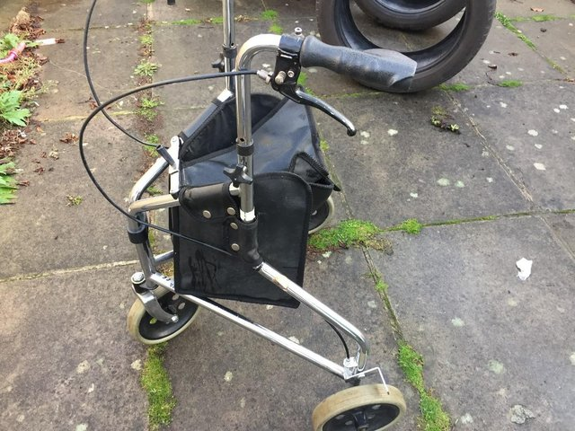 Image 7 of Days Tri Wheel Walker With Loop, Lockable Brake, Height Adju