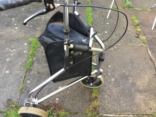 Image 8 of Days Tri Wheel Walker With Loop, Lockable Brake, Height Adju