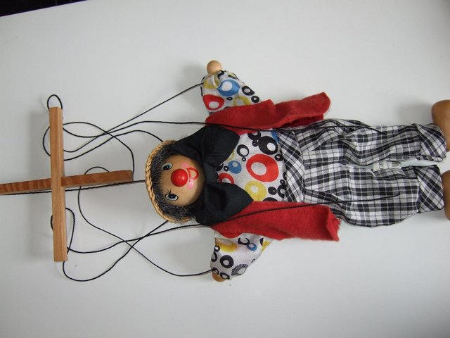 Image 3 of Traditional Pull String Puppet Marionett [Brand New]