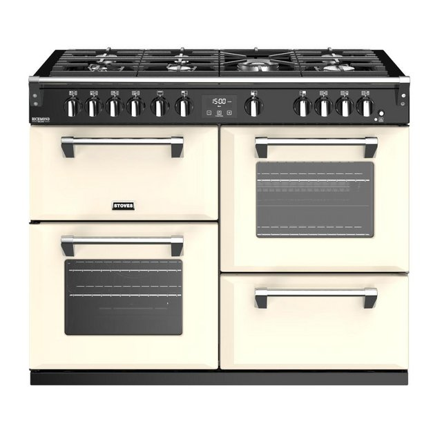 Preview of the first image of STOVES RICHMOND DELUXE S1100G CREAM 110CM GAS RANGE COOKER.