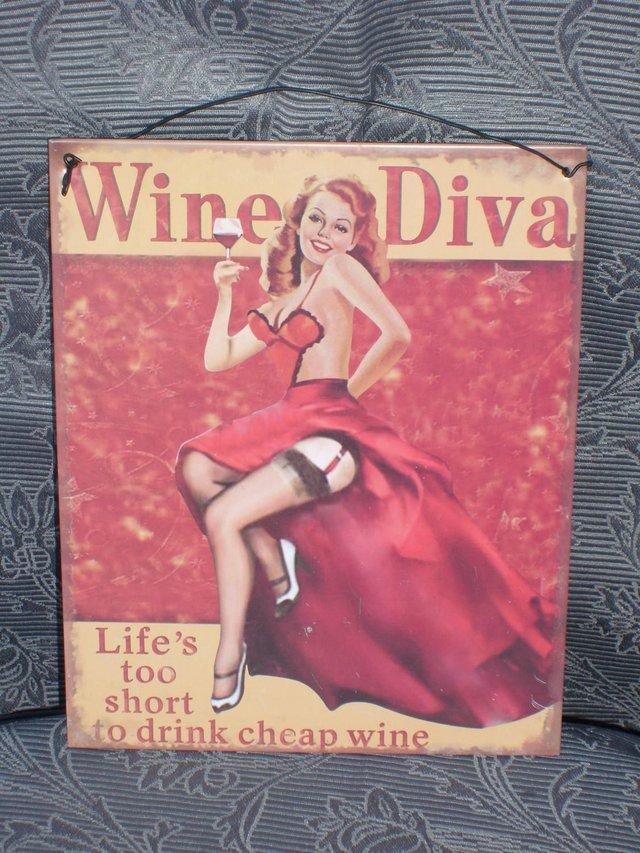 Image 4 of Metal Sign – Wine Diva