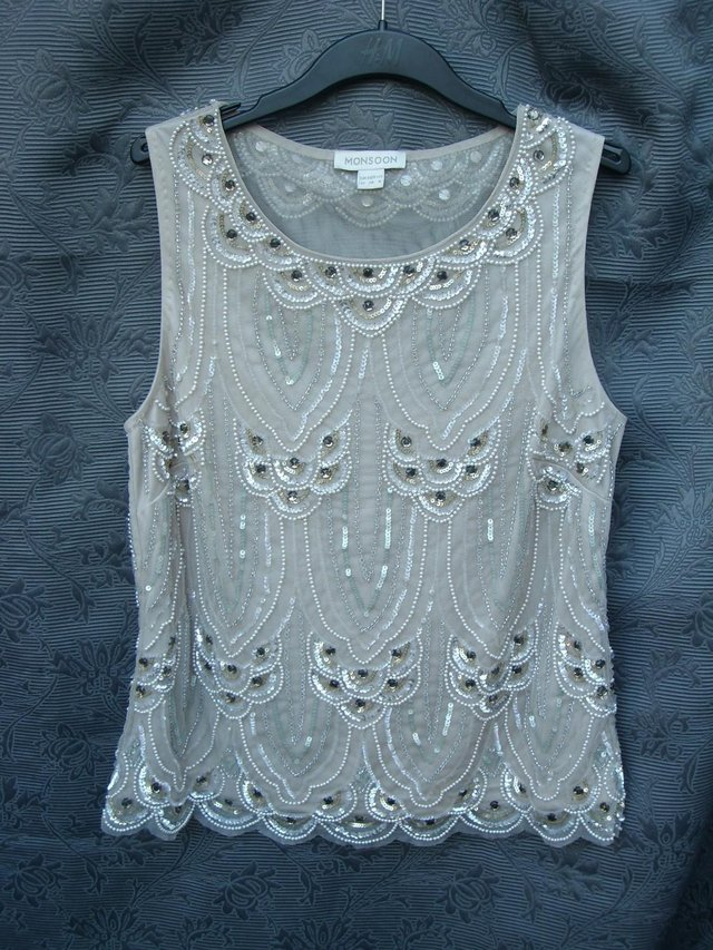 1b3bbb7ed4 Lovely top with bead and sequin decoration on front and back