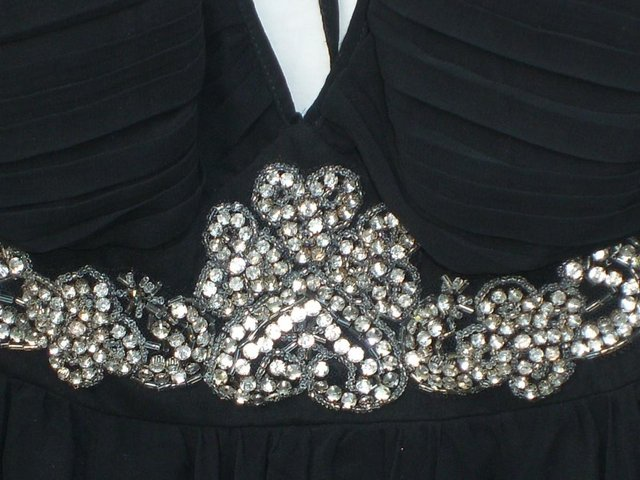 Image 4 of RARE LONDON Black Chiffon Mini Dress - Size 12