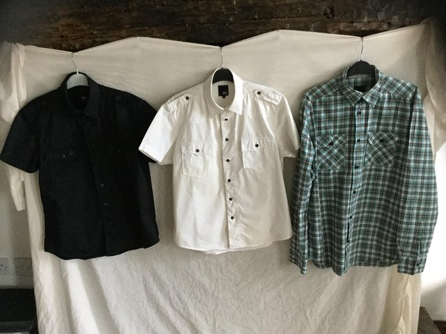 3 Jack & Jones casual shirts, used for sale  Rotherham