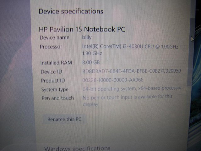 HP Pavilion 15 Notebook Beatsaudio For Sale in Colwyn Bay, Conwy | Preloved