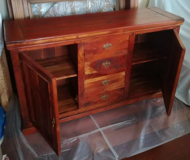 Preview of the first image of FURNITURE SOLID WOOD SIDEBOARD Draws Cabinet Fruit Wood.