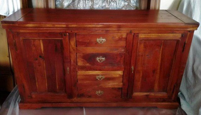 Image 2 of FURNITURE SOLID WOOD SIDEBOARD Draws Cabinet Fruit Wood