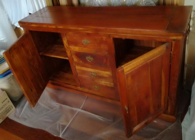 Image 3 of FURNITURE SOLID WOOD SIDEBOARD Draws Cabinet Fruit Wood