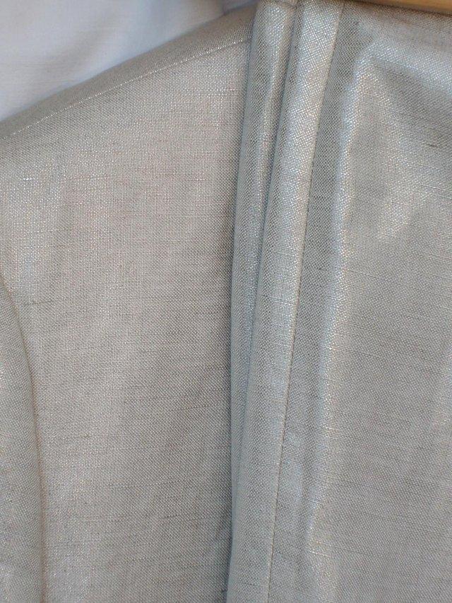 Image 4 of ARTHUR S LEVINE TAHARI Silver Trousers/Jacket Size 12/14
