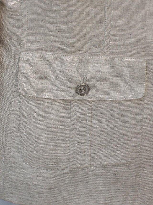 Image 5 of ARTHUR S LEVINE TAHARI Silver Trousers/Jacket Size 12/14