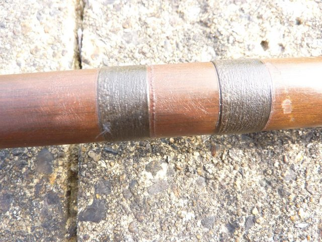 Image 9 of VINTAGE SALMON ROD 16.5FT GREENHEART LIGHT, By W.GARDEN, ABE