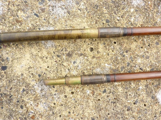 Image 10 of VINTAGE SALMON ROD 16.5FT GREENHEART LIGHT, By W.GARDEN, ABE