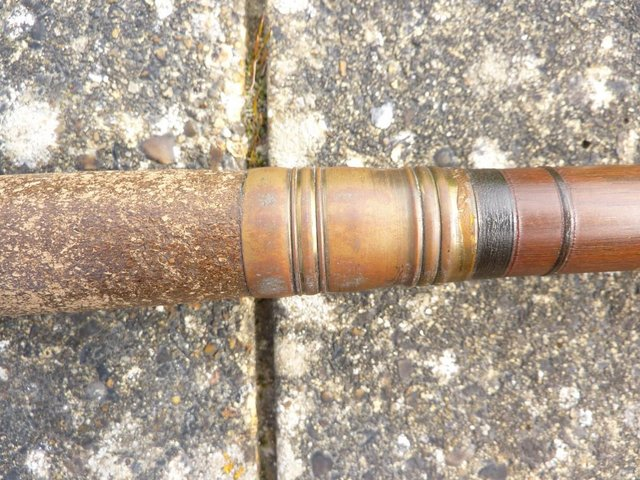 Image 11 of VINTAGE SALMON ROD 16.5FT GREENHEART LIGHT, By W.GARDEN, ABE