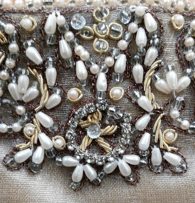 Image 2 of ACCESSORISE DESIGNER BAG PURSE Gold Diamante Vintage Style