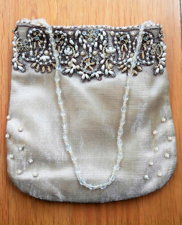 Image 3 of ACCESSORISE DESIGNER BAG PURSE Gold Diamante Vintage Style