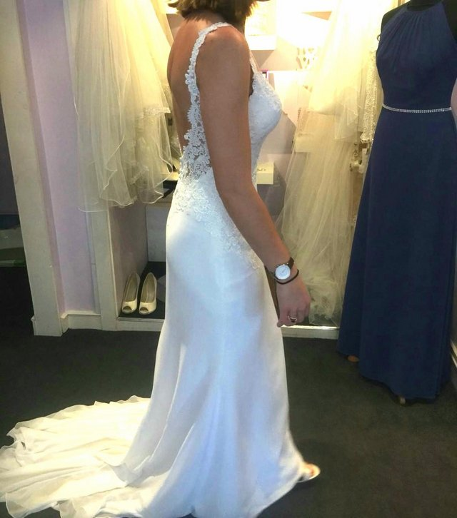 8cdfa42bd465 ... wedding dress collection 2018. Perfect condition - never worn! Would  fit size UK 6 & 8. Removable bust cups (I'm a size C in these photos).  Bought for ...