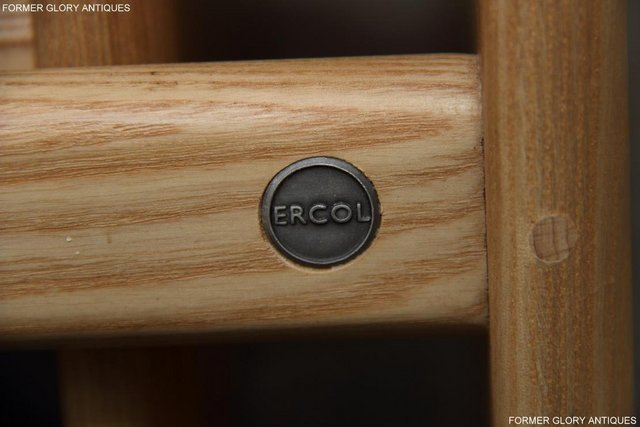 Image 5 of ERCOL WINDSOR ELM CLEAR FINISH NEST OF THREE COFFEE TABLES