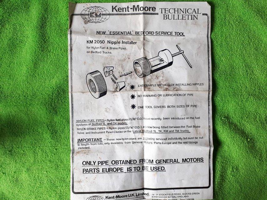 Image 3 of Bedford TL,TK,KM and TM Kent Moore KM 2050 Nipple Installer