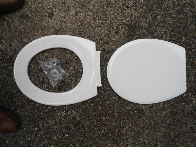Preview of the first image of Toilet seat - unused brand new..