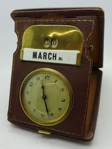 """Preview of the first image of A Vintage (& Rare) """"Mauthe Wind-Up"""" Travel Clock.."""