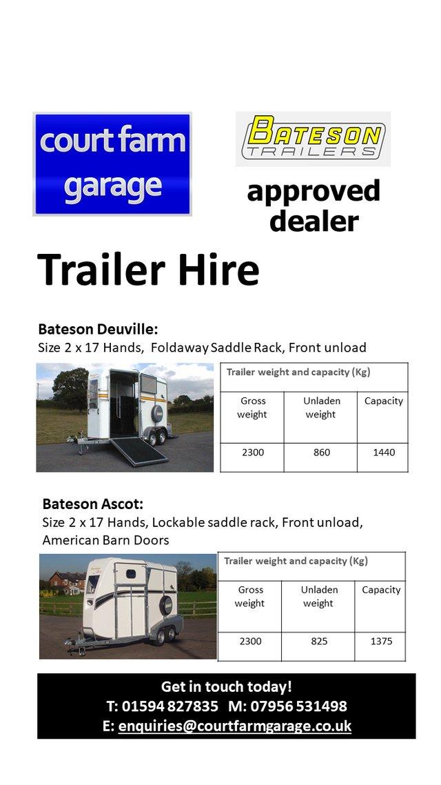 Image 3 of New Bateson Deauville Horse Trailer (Barn Door)