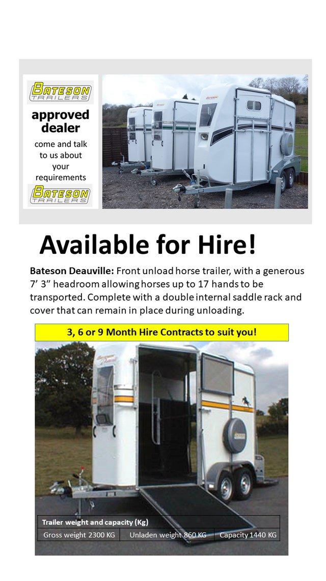 Image 4 of New Bateson Deauville Horse Trailer (Barn Door)