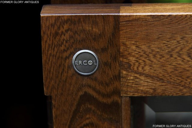 Image 9 of ERCOL GOLDEN DAWN ELM CORNER TV CABINET STAND TABLE UNIT