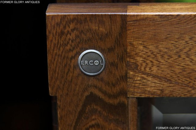 Image 16 of ERCOL GOLDEN DAWN ELM CORNER TV CABINET STAND TABLE UNIT