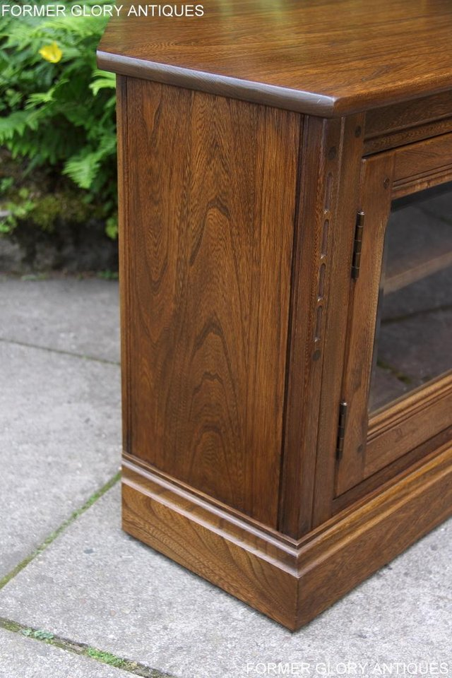 Image 28 of ERCOL GOLDEN DAWN ELM CORNER TV CABINET STAND TABLE UNIT