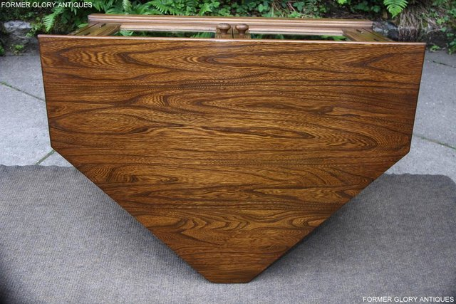 Image 31 of ERCOL GOLDEN DAWN ELM CORNER TV CABINET STAND TABLE UNIT