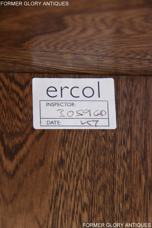 Image 37 of ERCOL GOLDEN DAWN ELM CORNER TV CABINET STAND TABLE UNIT