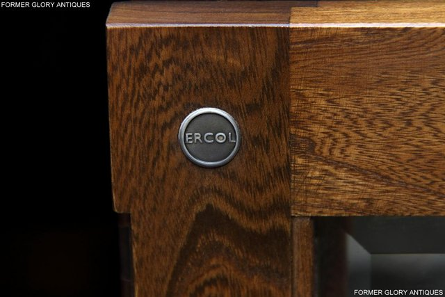 Image 41 of ERCOL GOLDEN DAWN ELM CORNER TV CABINET STAND TABLE UNIT