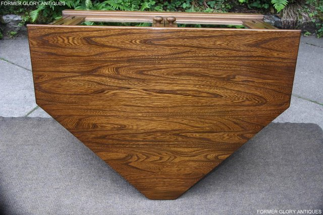 Image 46 of ERCOL GOLDEN DAWN ELM CORNER TV CABINET STAND TABLE UNIT