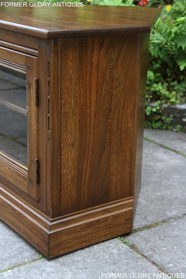 Image 51 of ERCOL GOLDEN DAWN ELM CORNER TV CABINET STAND TABLE UNIT