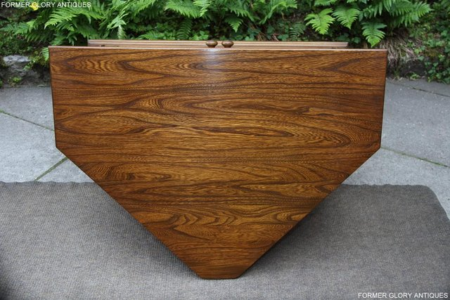 Image 57 of ERCOL GOLDEN DAWN ELM CORNER TV CABINET STAND TABLE UNIT