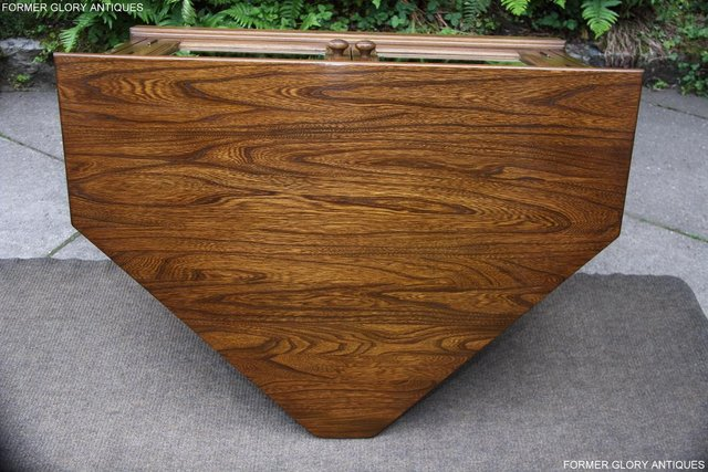 Image 66 of ERCOL GOLDEN DAWN ELM CORNER TV CABINET STAND TABLE UNIT