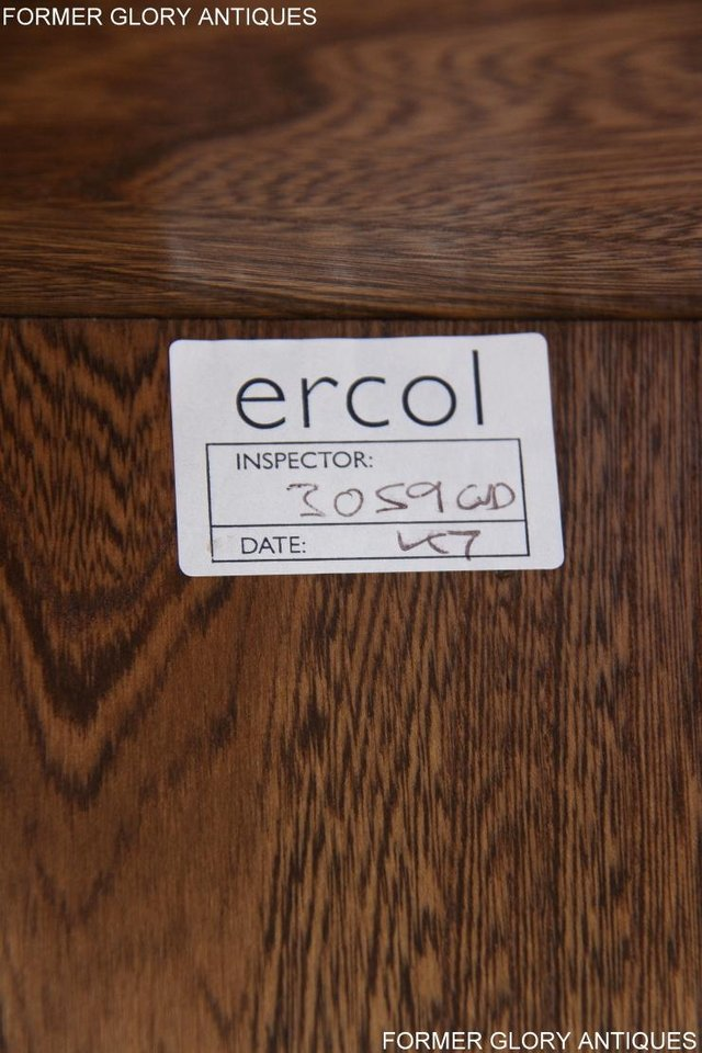 Image 76 of ERCOL GOLDEN DAWN ELM CORNER TV CABINET STAND TABLE UNIT